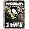 "Pittsburgh Penguins NHL ""Commemorative"" 48"" x 60"" Tapestry Throw"