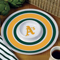 "Oakland Athletics MLB 14"" Round Melamine Chip and Dip Bowl"