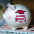 Arkansas Razorbacks NCAA College Ceramic Piggy Bank