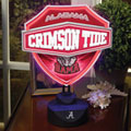 Alabama Crimson Tide NCAA College Neon Shield Table Lamp