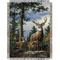 "Hautman Bros. King Stag 48"" x 60"" Metallic Tapestry Throw"