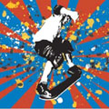 Bold Skater - Contemporary mount print with beveled edge