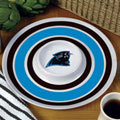 "Carolina Panthers NFL 14"" Round Melamine Chip and Dip Bowl"