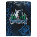 "Minnesota Timberwolves NBA ""Tie Dye"" 60"" x 80"" Super Plush Throw"