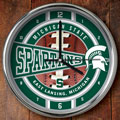 "Michigan State Spartans NCAA College 12"" Chrome Wall Clock"