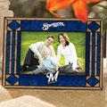 "Milwaukee Brewers MLB 6.5"" x 9"" Horizontal Art-Glass Frame"
