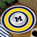 "Michigan Wolverines NCAA College 14"" Round Melamine Chip and Dip Bowl"