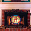 Boston Red Sox MLB Stained Glass Fireplace Screen