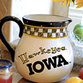 "Iowa Hawkeyes NCAA College 14"" Gameday Ceramic Chip and Dip Platter"
