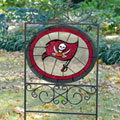 Tampa Bay Buccaneers NFL Stained Glass Outdoor Yard Sign