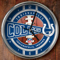 "Indianapolis Colts NFL 12"" Chrome Wall Clock"
