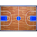 "63"" x 90"" Basketball Court Rug"