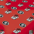 Unviersity of Georgia Bulldogs 100% Cotton Sateen Shower Curtain - Red