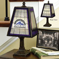 Colorado Rockies MLB Art Glass Table Lamp