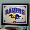 Baltimore Ravens NFL Framed Glass Mirror