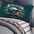 Philadelphia Eagles Queen Size Pinstripe Sheet Set