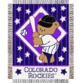 "Colorado Rockies MLB Baby 36""x 46"" Triple Woven Jacquard Throw"