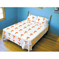 Tennessee Vols 100% Cotton Sateen Twin Sheet Set - White