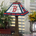 Boston Red Sox MLB Stained Glass Mission Style Table Lamp