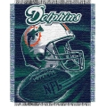 "Miami Dolphins NFL ""Spiral"" 48"" x 60"" Triple Woven Jacquard Throw"