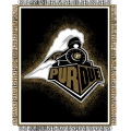 "Purdue Boilermakers NCAA College ""Focus"" 48"" x 60"" Triple Woven Jacquard Throw"