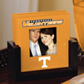 Tennessee Vols NCAA College Art Glass Photo Frame Coaster Set