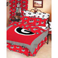 Georgia Bulldogs UGA 100% Cotton Sateen Full Bed-In-A-Bag