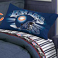 Chicago Bears Twin Size Pinstripe Sheet Set