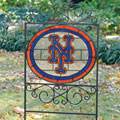New York Mets MLB Stained Glass Outdoor Yard Sign