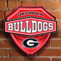 Georgia UGA Bulldogs NCAA College Neon Shield Wall Lamp
