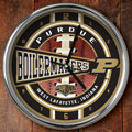 "Purdue Boilermakers NCAA College 12"" Chrome Wall Clock"
