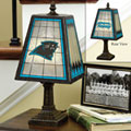 Carolina Panthers NFL Art Glass Table Lamp