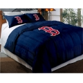 "Boston Red Sox MLB Twin Chenille Embroidered Comforter Set with 2 Shams 64"" x 86"""