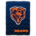 "Chicago Bears NFL ""Diamond Plate"" 60' x 80"" Raschel Throw"