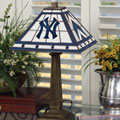 New York Yankees MLB Stained Glass Mission Style Table Lamp