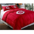"Cincinnati Reds MLB Twin Chenille Embroidered Comforter Set with 2 Shams 64"" x 86"""