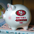 San Francisco 49ers NFL Ceramic Piggy Bank
