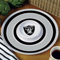 "Oakland Raiders NFL 14"" Round Melamine Chip and Dip Bowl"