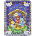 "Precious Moments Angels Heard on High Holiday 48"" x 60"" Metallic Tapestry Throw"