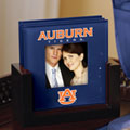 Auburn Tigers NCAA College Art Glass Photo Frame Coaster Set