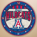 "Arizona Wildcats NCAA College 12"" Round Art Glass Wall Clock"