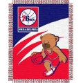"Philadelphia 76ers NBA Baby 36"" x 46"" Triple Woven Jacquard Throw"