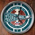 "Philadelphia Eagles NFL 12"" Chrome Wall Clock"