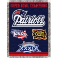 "New England Patriots NFL ""Commemorative"" 48"" x 60"" Tapestry Throw"