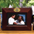 "New Orleans Saints NFL 8"" x 10"" Brown Horizontal Picture Frame"