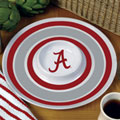 "Alabama Crimson Tide NCAA College 14"" Round Melamine Chip and Dip Bowl"