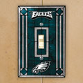 Philadelphia Eagles NFL Art Glass Single Light Switch Plate Cover