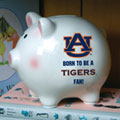 Auburn Tigers NCAA College Ceramic Piggy Bank