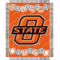 "Oklahoma State Cowboys NCAA College Baby 36"" x 46"" Triple Woven Jacquard Throw"