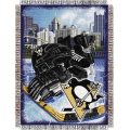 "Pittsburgh Penguins NHL Style ""Home Ice Advantage"" 48"" x 60"" Tapestry Throw"